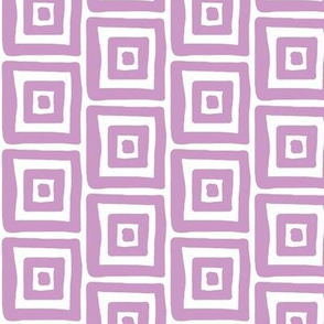 Retro Wonky Square (grape)