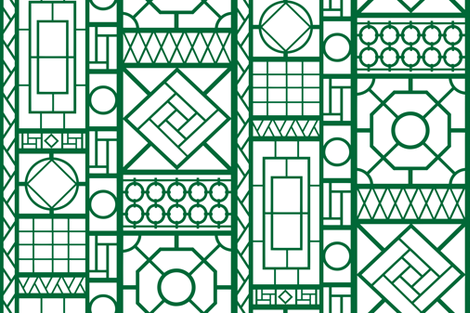 trellis_in_emerald green fabric by danika_herrick on Spoonflower - custom fabric