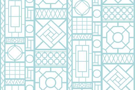 trellis_in_aqua fabric by danikaherrick on Spoonflower - custom fabric
