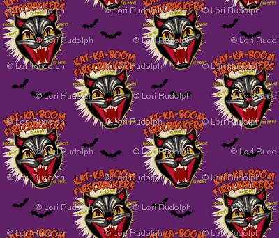 Kat-Ka-Boom Firecrackers on Purple (smaller scale)