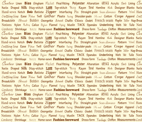 In Other Words....FASHION fabric by topfrog56 on Spoonflower - custom fabric