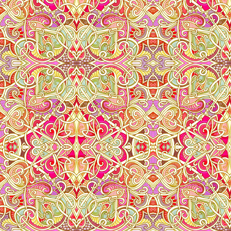 Romantic Entanglements of the Heart fabric by edsel2084 on Spoonflower - custom fabric