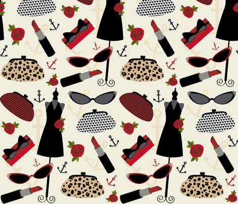 Rockabilly Red  fabric by jills_cloth_shop on Spoonflower - custom fabric