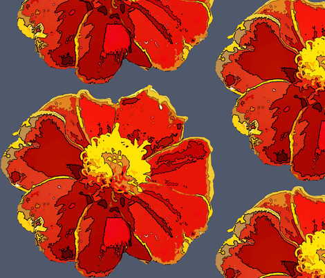 Marigold_cutout_and_posterized fabric by katiemadeit on Spoonflower - custom fabric