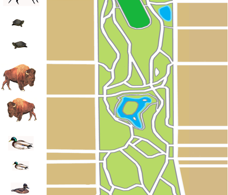 map of golden gate park fabric by passthepoimahalo on Spoonflower - custom fabric