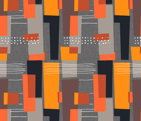 Marks and Color Blocks /04 fabric by elizabeth_hale_design on Spoonflower - custom fabric