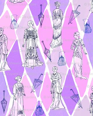 Edwardian Fashion Show pinks