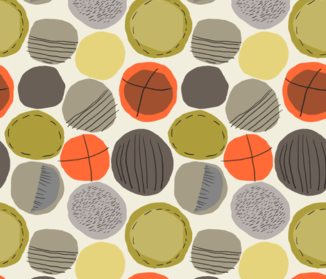 Marks on Dots /01 fabric by elizabeth_hale_design on Spoonflower - custom fabric