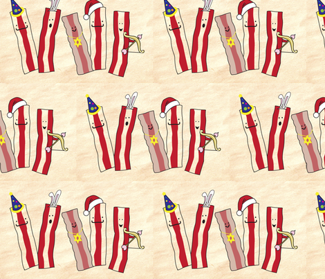 Bacon Pals fabric by mothertuckerdesigns on Spoonflower - custom fabric