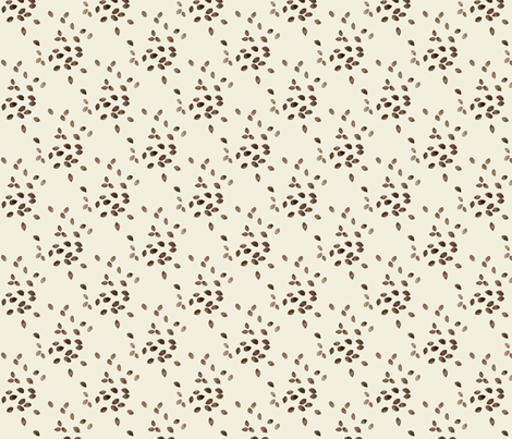scattered seeds natural fabric by gollybard on Spoonflower - custom fabric