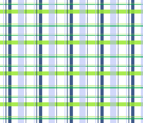 alli_smallplaid_blue_ fabric by olioh on Spoonflower - custom fabric