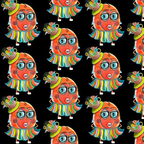 Fashion Plate Black Small Scale fabric by amy_g on Spoonflower - custom fabric