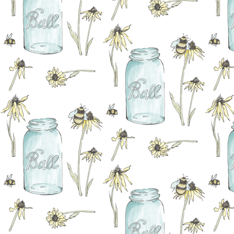 Flowers  fabric by fat_bird_designs on Spoonflower - custom fabric