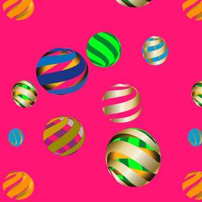 bunte_Bälle_pink_Muster_kachel_1