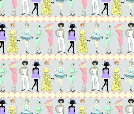 fashionistas fabric by accoladedesigns on Spoonflower - custom fabric