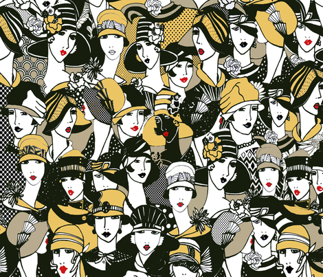 Crazy about hats fabric by mariskadesign on Spoonflower - custom fabric