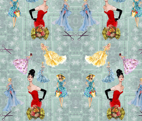 Paper Doll Fashion fabric by spiffydame on Spoonflower - custom fabric