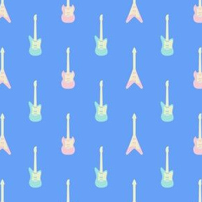 Rufus Guitar - Blue Mint-Pink