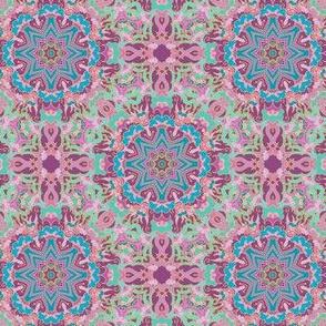 Arabic night, turquoise - violet ornamental pattern