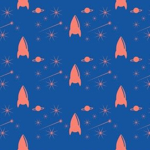 Rufus in Space - Navy  Orange