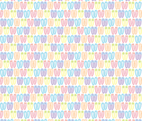 Watercolor ballerina fabric by sewing_is_fun on Spoonflower - custom fabric