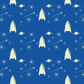 Rufus in Space -Navy White
