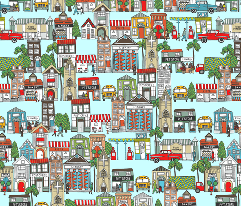my kinda town fabric by scrummy on Spoonflower - custom fabric