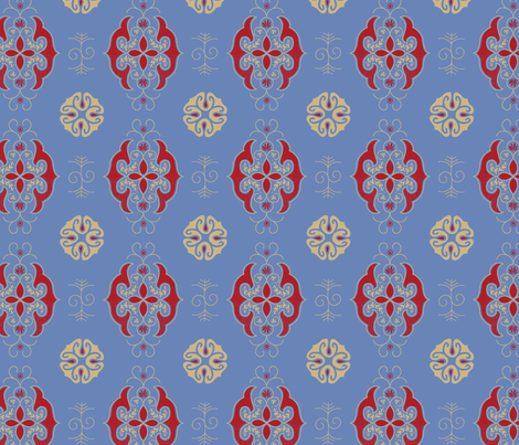 Expedition - Calm Blue fabric by reikahunt on Spoonflower - custom fabric