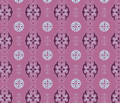 Expedition - Calm Mauve fabric by reikahunt on Spoonflower - custom fabric