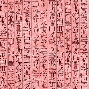 Hieroglyphics Papyrus in Coral