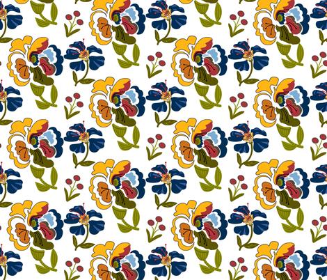 Bohemian_Rapsody_Half_Drop fabric by lana_gordon_rast_ on Spoonflower - custom fabric