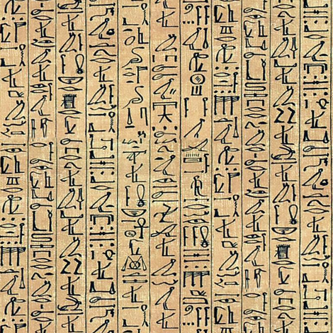 Hieroglyphics Papyrus in Linen fabric by ldqcanada on Spoonflower - custom fabric