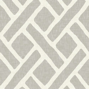 Savannah Trellis in Cashmere Grey