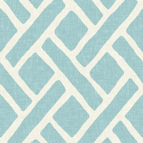 Savannah Trellis in Aquamarine Linen