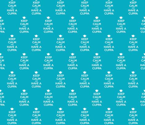 Keep Calm Have a Cuppa - solid fabric by katvanwin on Spoonflower - custom fabric
