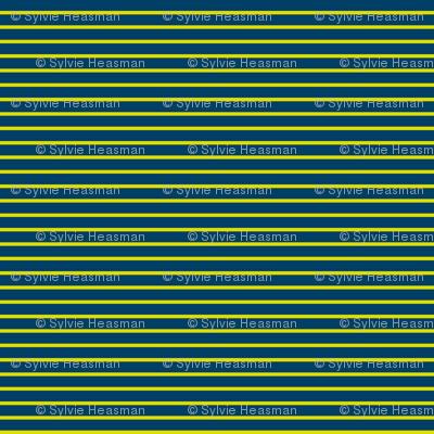 Pin Stripe Yellow n Blue