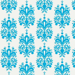 Duchess Damask - Turquoise