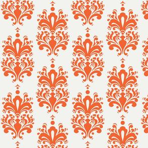 Duchess Damask - Orange