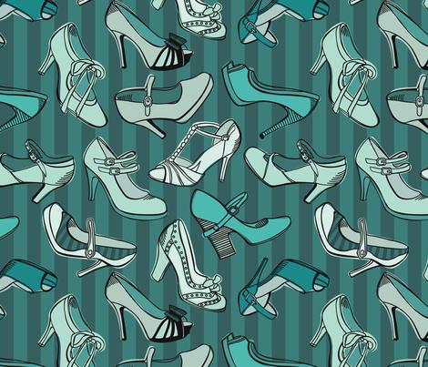 Retro_shoes fabric by nenilkime on Spoonflower - custom fabric