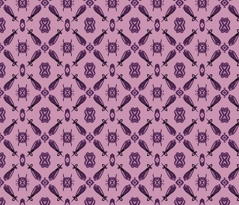 viv_tat plum on plum mirrior-ed fabric by cest_la_viv on Spoonflower - custom fabric