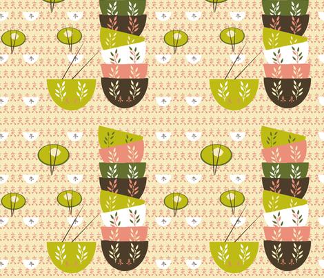 Dim Sum Love fabric by karenharveycox on Spoonflower - custom fabric