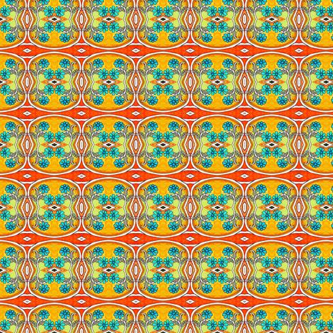 Blue Daisy Fishbowl fabric by edsel2084 on Spoonflower - custom fabric