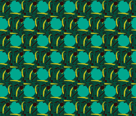 green sun fabric by ann-dee on Spoonflower - custom fabric