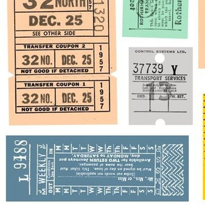Ticket to Ride || vintage ephemera bus train subway tickets uk Europe London British