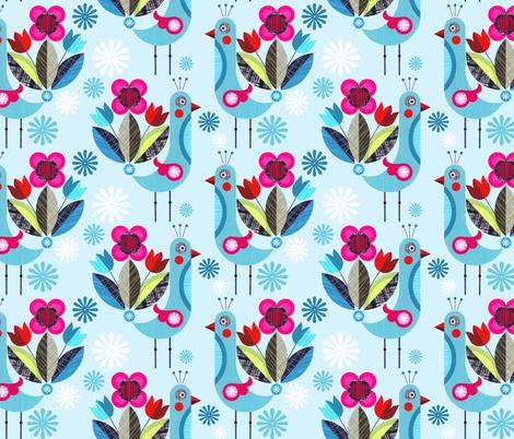 Fabulous Miss Peacock fabric by ellengiggenbach on Spoonflower - custom fabric