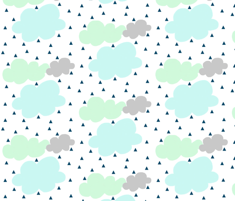 Rainy day fabric by mintpeony on Spoonflower - custom fabric