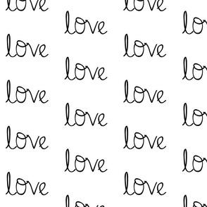 Love on white