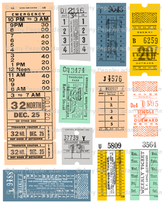 Ticket to Ride (Midi) || vintage ephemera bus train subway tickets uk Europe London British