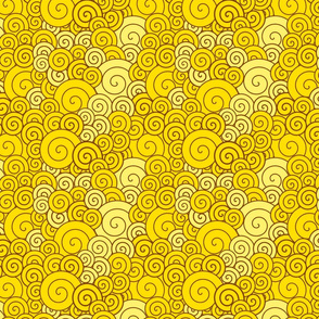 Yellow spirals