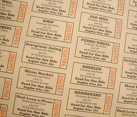 Midway || vintage ephemera fair carnival amusement park tickets
